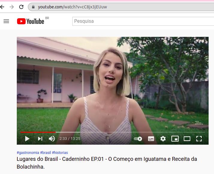 Ana Luiza Teixeira - 1º episódio da websérie Caderninho